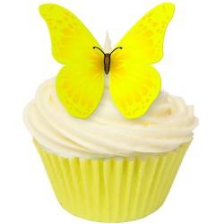 Sunny Yellow, 12 st ätbara fjärilar
