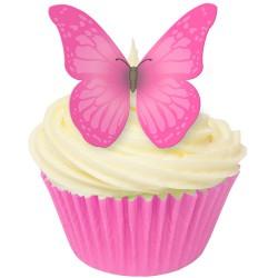 Pretty in Pink, 12 st ätbara fjärilar