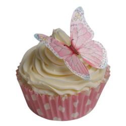 Vintage, 12 st ätbara fjärilar