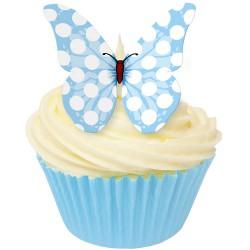 Blå polka, 12 st ätbara fjärilar