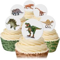 Dinosaurier, 12 st ätbara dekorationer