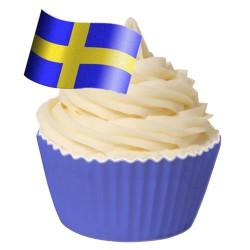 BF 20161031 - Dekoration-Ätbar, Svenska flaggan 12 st