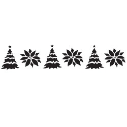Jolly Christmas, kantschablon
