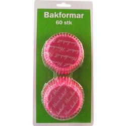 Hembakat (rosa), ca 60 st muffinsformar