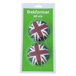 Brittiska flaggan, ca 60 st muffinsformar