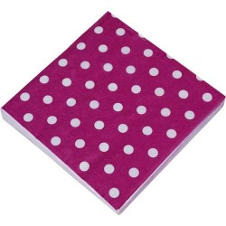 Purple with dots, 20 st servetter