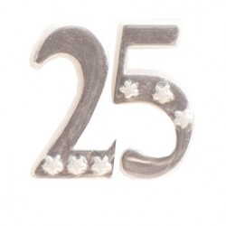 25, stort sifferljus