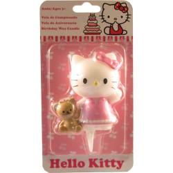 Hello Kitty med nalle, tårtljus