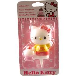 Hello Kitty med cupcake, tårtljus