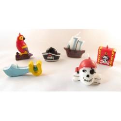 Pirater, 6 st tårtljus
