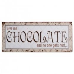 Chocolate, skylt