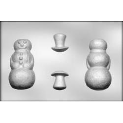 Snögubbe, 3-D chokladform