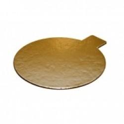 Guldrondell m hållare, ca 8 cm