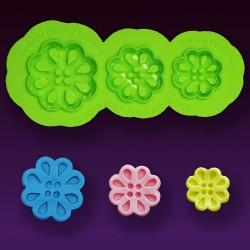 Vintage Flower Buttons, silikonform