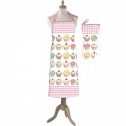 Cupcakes, förkläde och grillvante