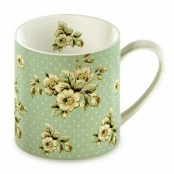 Katie Alice, mugg (green flowers)