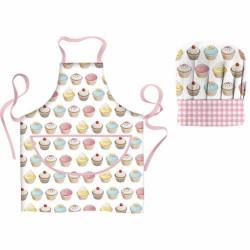 Cupcakes, förkläde och kockhatt till barn