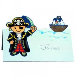 Pirat, 8 st placeringskort