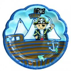 Pirat, 8 st tallrikar