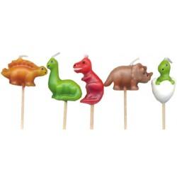 Dinosaurier, 5 st tårtljus