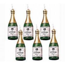 Champagne, 6 st ljus (Wilton)