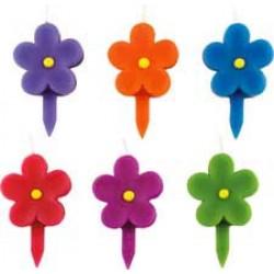 Blommor, 6 st ljus