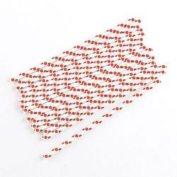 Prickiga, 75 st sugrör (röda-vita)