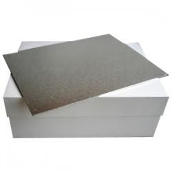 Tårtbricka o kartong, ca 33 X 22,8 cm