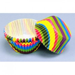 Rainbow Stripes, 60 st muffinsformar