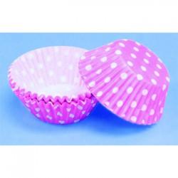 Pink Polka Dots, 60 st muffinsformar