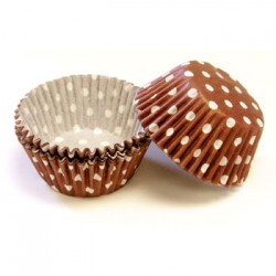 Brown Polka Dots, 60 st muffinsformar