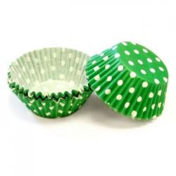 Green Polka Dots, 60 st muffinsformar