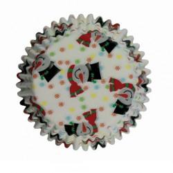 Smiley Snowman, 100 st små muffinsformar