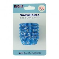 Snowflakes, 100 st små muffinsformar