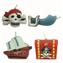 Pirater, 4 st tårtljus (PME)