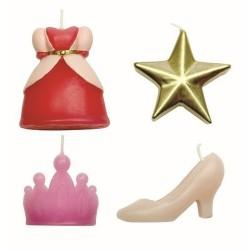Princess, 4 st tårtljus (PME)
