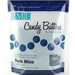 Candy Buttons, blå (mörk) 340g