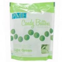 BF 20190725 - Candy Buttons, grön (ljus) 340g