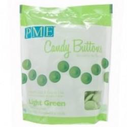 Candy Buttons, grön (ljus) 340g