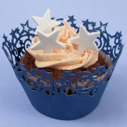 Stars, cupcake wraps