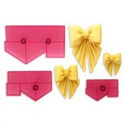 Draperade rosetter, paket med utstickare