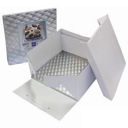 Kvadratisk bricka o kartong, ca 20 cm (1,2 cm)