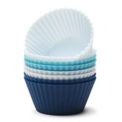 Muffinsformar blå-mix, 8 st (silikon)
