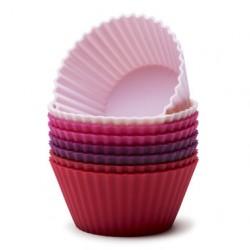 Muffinsformar röd-mix, 8 st (silikon)