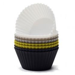 Muffinsformar svart-mix, 8 st (silikon)