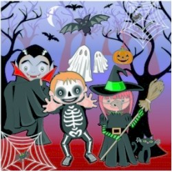 Halloween, 20 st servetter