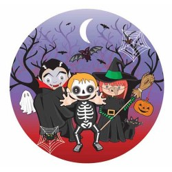 Halloween, 8 st tallrikar (18 cm)