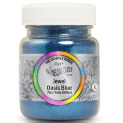 Jewel Oasis Blue, dekorationsglitter (35g)