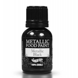 Metallic Black, food paint