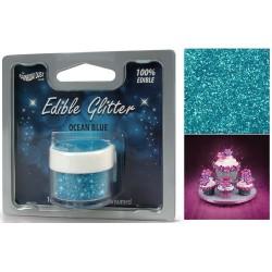 Blå, ätbart glitter (Ocean Blue)